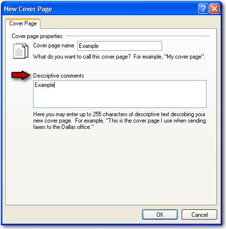 fax relayfax tools coverpage menu window