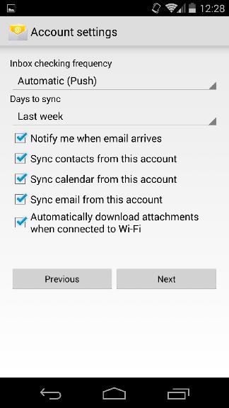 setup mdaemon account on my android device using activesync