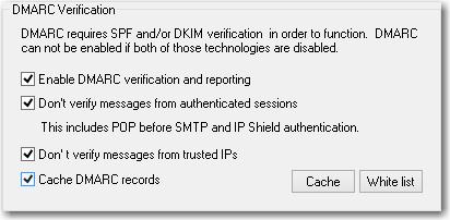 mdaemon email server default dmarc verification settings menu