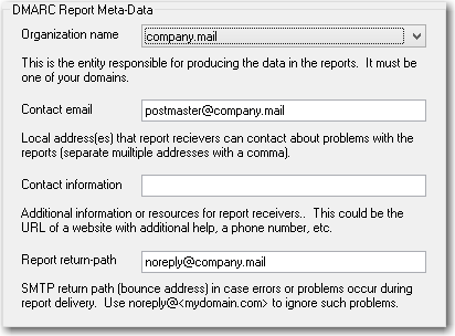 mdaemon email server dmarc report editor used for sending dmarc reports