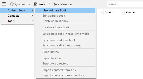 configure an mdaemon account to sync contacts using CardBook in mozilla thunderbird