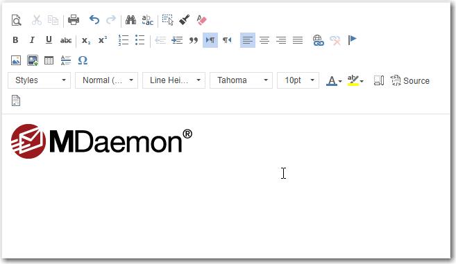 webmail menu add image icon