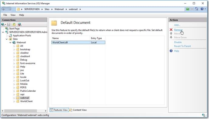iis mdaemon webmail mobile default document