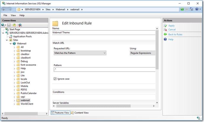 iis mdaemon webmail mobile edit rule