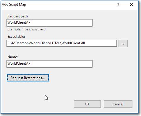 iis mdaemon webmail mobile script map