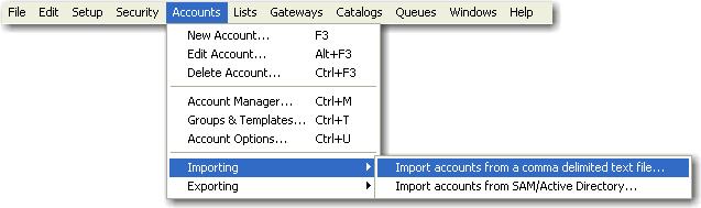 mdaemon accounts import menu